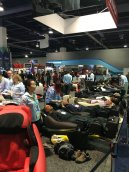 Massage chairs were everywhere. Long lines. Many happy prospects.